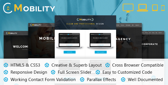 Mobility One Page HTML Template