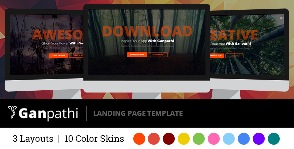 Ganpathi - Responsive Landing Page Template