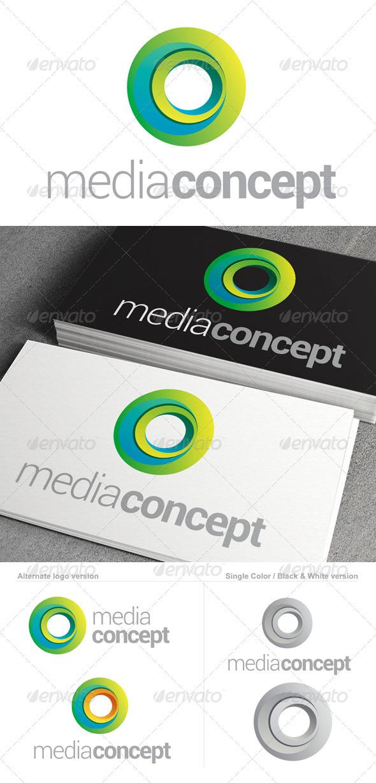Media Concept Logo Template
