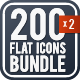 Universal Colorful Flat Icons Bundle - GraphicRiver Item for Sale
