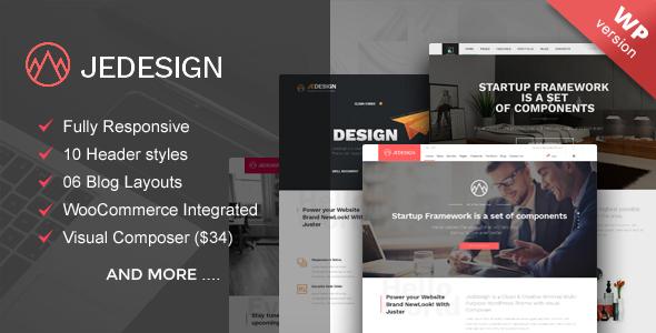 Jedesign multipurpose WordPress theme