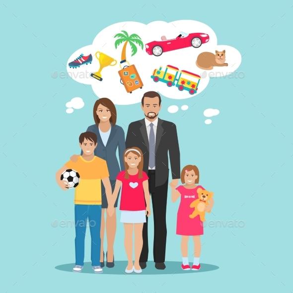 Family Dreams Illustration