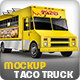 Food Truck, Taco Truck, Step Van Mock-Up - GraphicRiver Item for Sale
