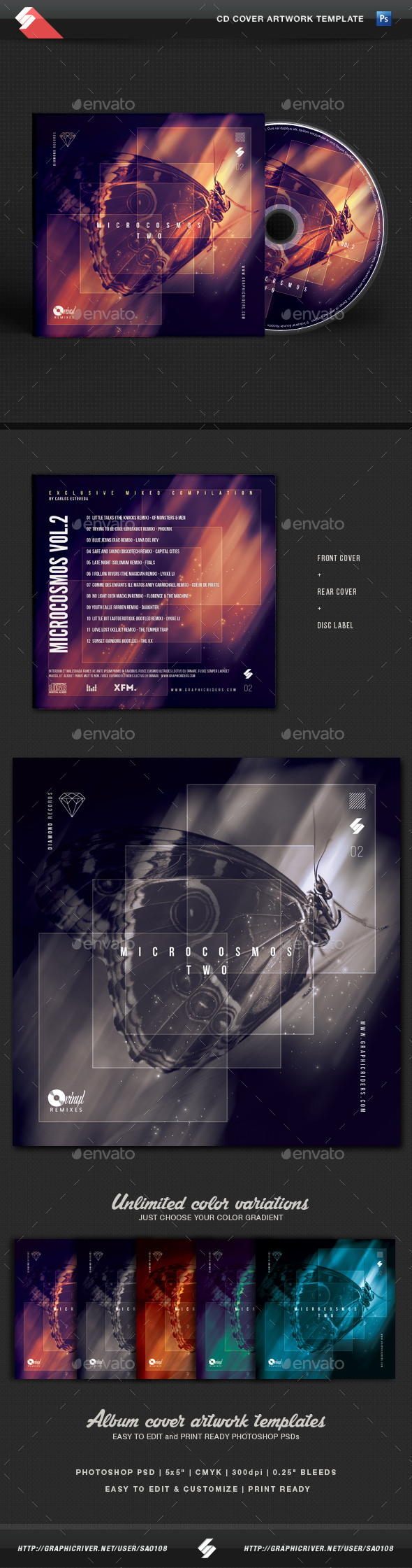 Electro CD & DVD Artwork Templates from GraphicRiver (Page 9)