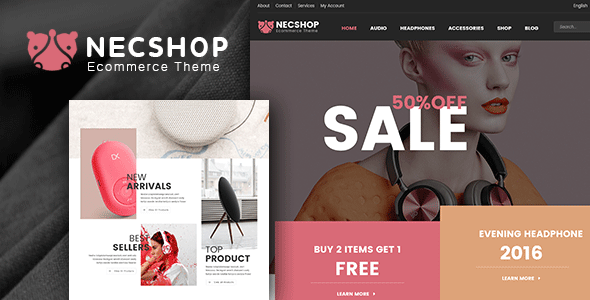 Nec Shop - HiTech RTL Responsive Multipurpose WooCommerce WordPress Theme