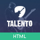Talento - Music Market Network HTML Template  - ThemeForest Item for Sale