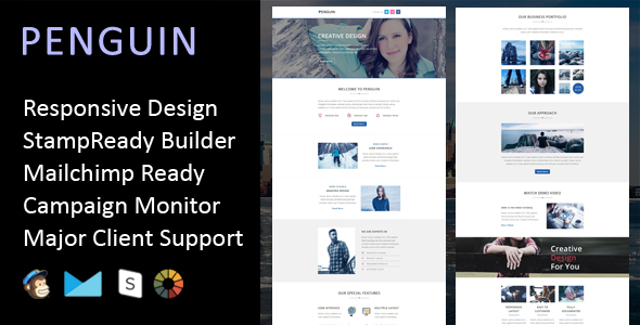 Penguin - Multipurpose Responsive Email Template + Stampready Builder