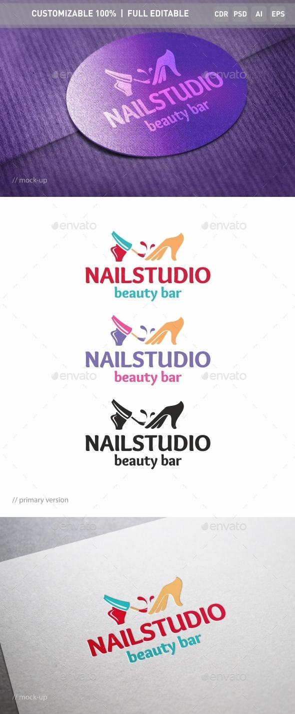 Nail Salon Logo Template