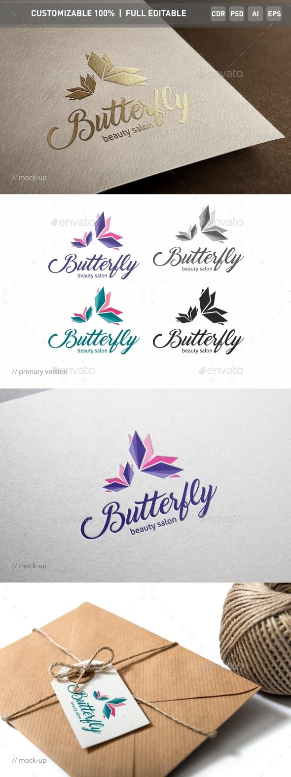 Butterfly Salon Logo Template