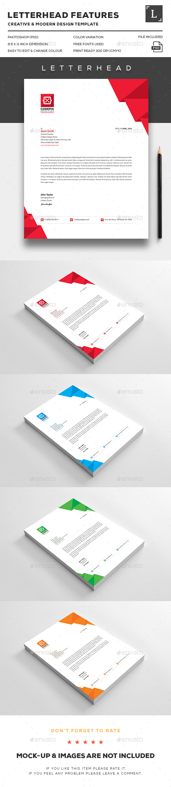 Letterhead And Stationery Design Templates From GraphicRiver