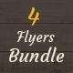 4 Flyer Bundle - GraphicRiver Item for Sale