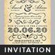Vintage Wedding Invitation Template - GraphicRiver Item for Sale