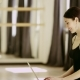 Beautiful Girl Wearing Ballet Leotard With Laptop - VideoHive Item for Sale