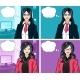 Asian Businesswoman Pop Art Comic - GraphicRiver Item for Sale
