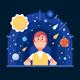 Man in the Planetarium - GraphicRiver Item for Sale