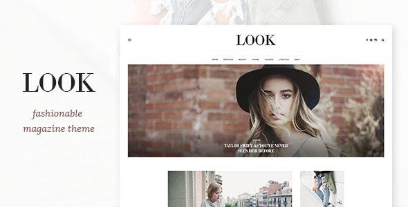 Look - Magazine PSD Template