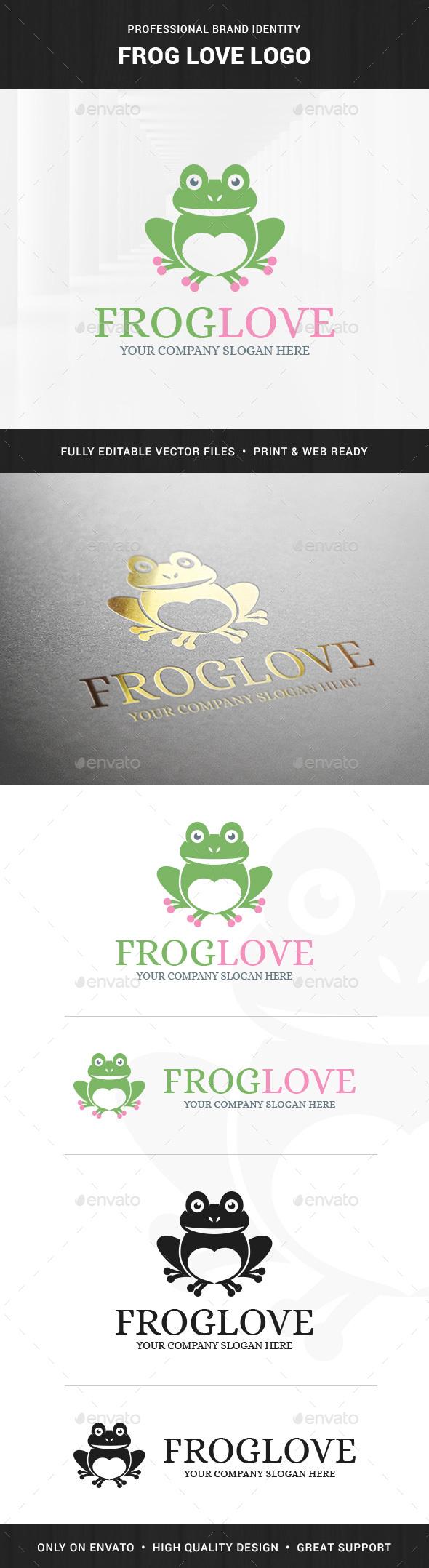 Frog Love Logo Template