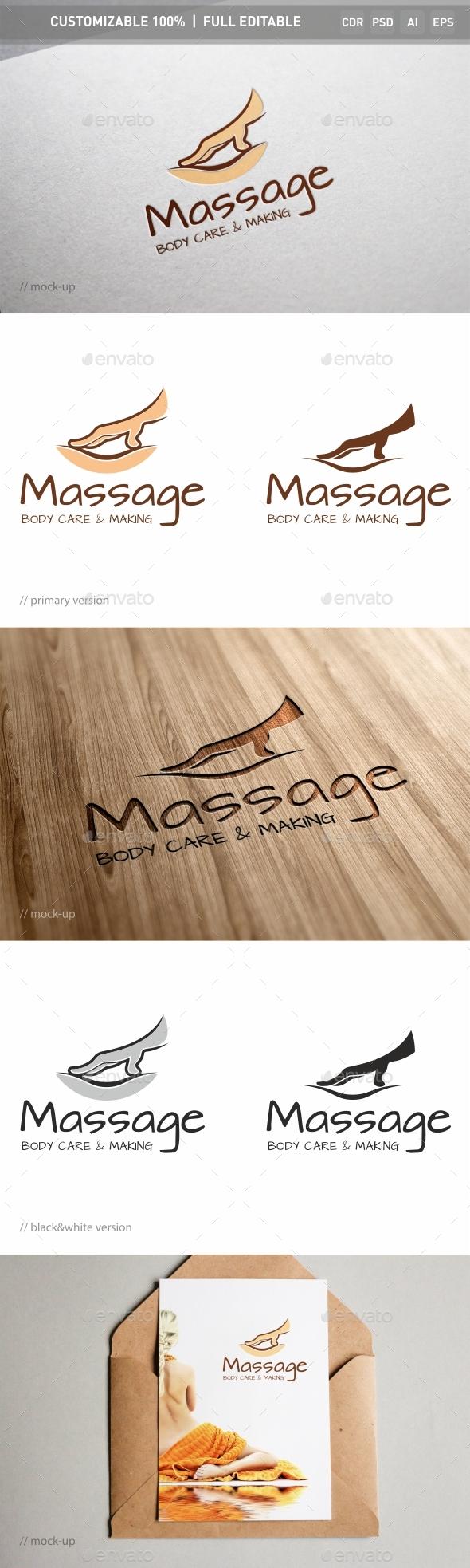 Massage Logo Template