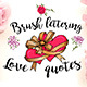 Brush Lettering Love Quotes and Phrases - GraphicRiver Item for Sale