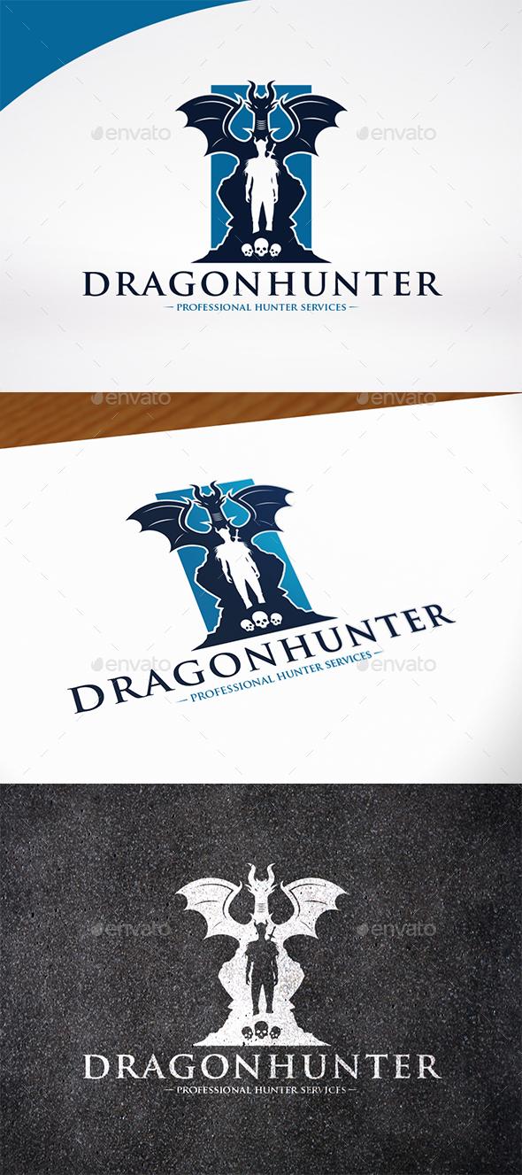 Dragon Hunter Logo Template