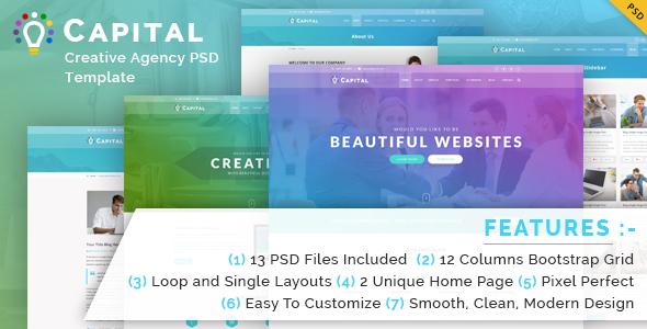 Capital Creative Agency PSD Template