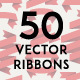 Set of 50 Vector Ribbons in Four Colors - GraphicRiver Item for Sale