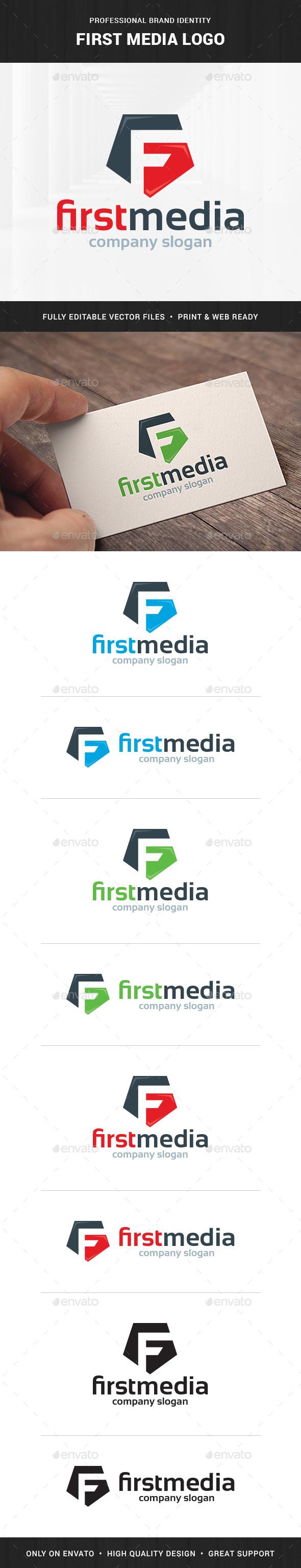 First Media - Letter F Logo