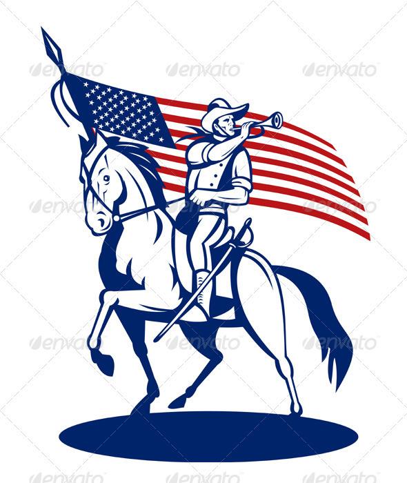 American Patriot Cavalry Rider