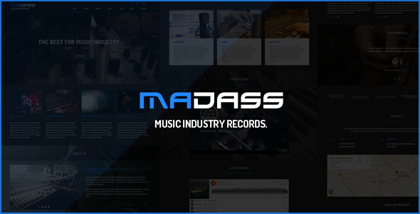 Madass - Music Industry HTML Template