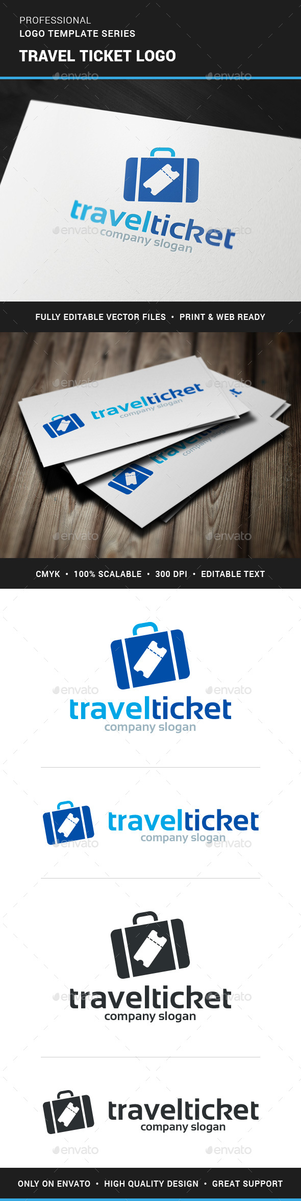 Travel Tickets Logo Template