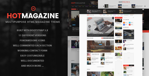 Hotmagazine - News & Magazine HTML Template