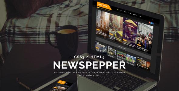 NewsPepper - News & Magazine HTML5 Template