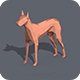 Low Poly Dog - 3DOcean Item for Sale