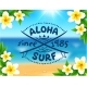 Aloha Surf Template on Blurred Ocean - GraphicRiver Item for Sale