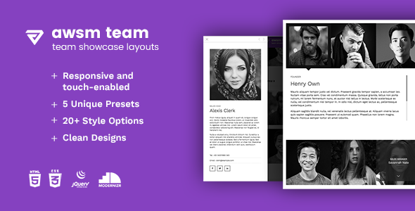 The Team - Team Showcase Framework HTML5
