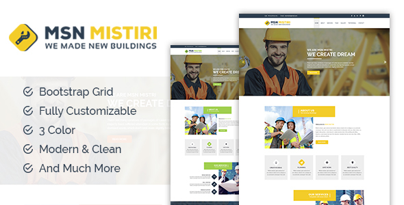 Msn Mistiri - Construction Bootstrap Template
