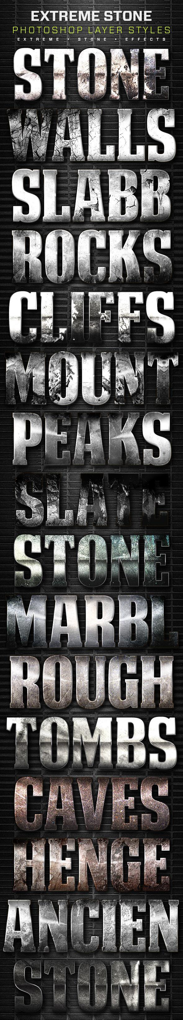 16 Extreme Stone Layer Styles Volume 8