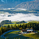 Morning fog in the Austrian Alps - VideoHive Item for Sale