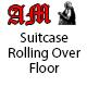 Suitcase Rolling Over Floor