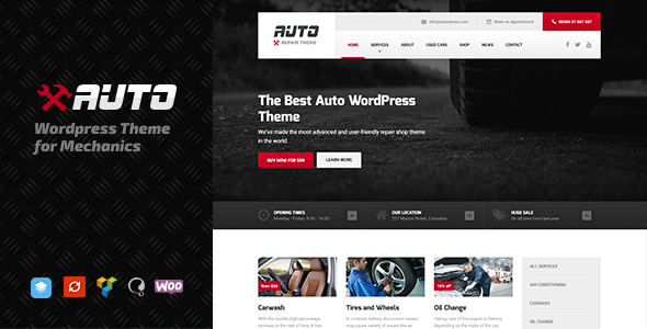 Auto - WordPress theme for Mechanic, Car Dealers and Repair Shops