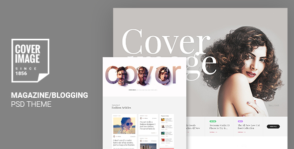 Cover Image | Online Magazine PSD Template