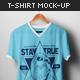 Male V-Neck T-shirt Mock-up - GraphicRiver Item for Sale