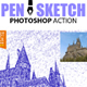 Pen Sketch Photoshop Action - GraphicRiver Item for Sale