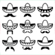 Mexican Sombrero Hat with Moustache - GraphicRiver Item for Sale