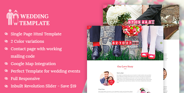 My Wedding - Invitation HTML Template