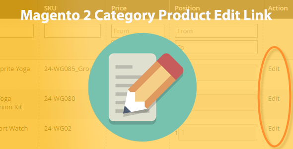 Magento 2 Category Product Edit Link