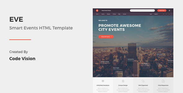 EVE - Events Directory & Listings HTML Template