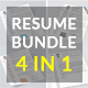 Resume Bundle 4 in 1 - GraphicRiver Item for Sale