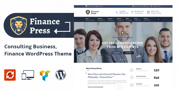 Finance Press - Consulting Business WordPress Theme