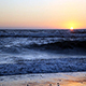 Sunset Over Waves And Beach Sky - VideoHive Item for Sale